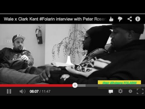 Wale & Dj Clark Kent Folarin Mixtape Interview With Peter Rosenberg! (Part 1)