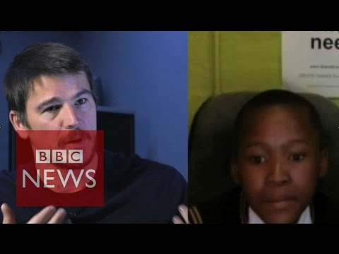 Why Hollywood star Josh Hartnett Skyped an African schoolgirl - BBC News