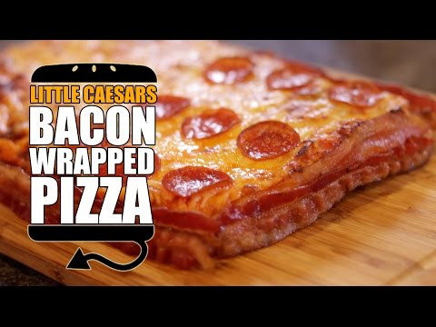 Little Caesar's Bacon Wrapped Deep Deep Dish Pizza Recipe Remake  |  HellthyJunkFood