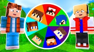 ROLETA DOS YOUTUBERS NO MINECRAFT !