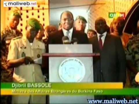 Déclaration du président du CNRDRE Amadou Sanogo et du médiateur Djibril Bassoli