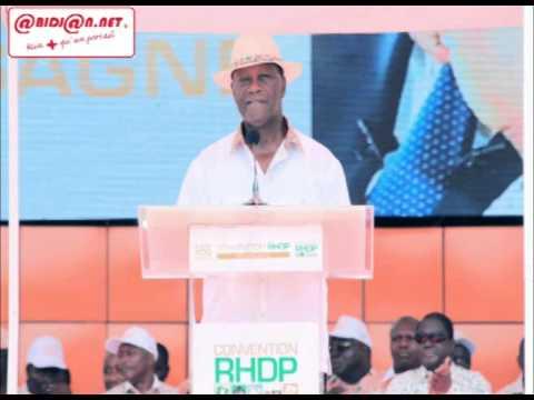 Investiture du candidat du RHDP: extrait du discours du Président Alassane Ouattara