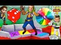 Giant TOY STORY 4 Board Game IRL! Win Cash + Infinity GAUNTLETS with HobbyKidsTV