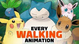 All 171 Pokemon Walking Animations in Let