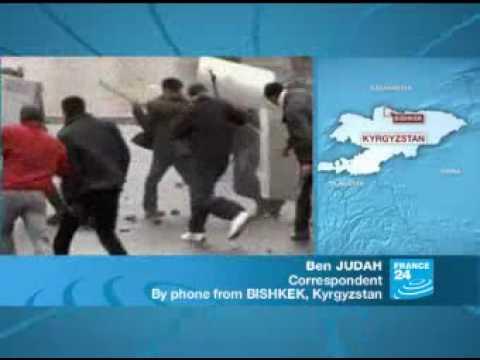France24: Report2, Kyrgyz President Kurmanbek Bakiyev has flown out of Bishkek