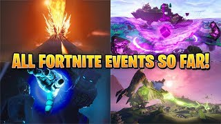 Every Fortnite Live Event So Far..! - (Season 3 - Season 10)