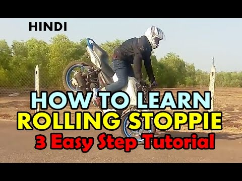 How To Learn ROLLING STOPPIE - 3 Easy Steps Tutorial - Hindi