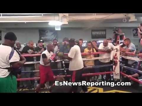 floyd mayweather training justin bieber EsNews boxing