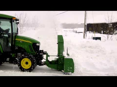 John Deere 4520 front Mount SnowBlower