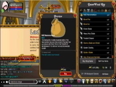 How to get necromancer class in aqw (HD)