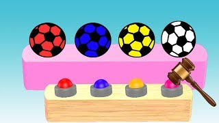 Learn Soccer Ball Colors For Kids || Nursery Rhymes || Learning Video For Children