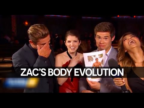 Zac Efron, Anna Kendrick & Adam DeVine Discuss Zac's Amazing Body