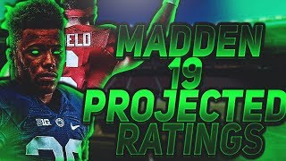 MADDEN 19 PROJECTED ROOKIE RATINGS