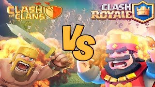 Clash Of Clans Vs Clash Royale ! (feat. Rwawes03 )