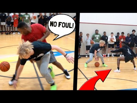 Trash Talker Shoved Me Then Gets EXPOSED! 5v5 Basketball!