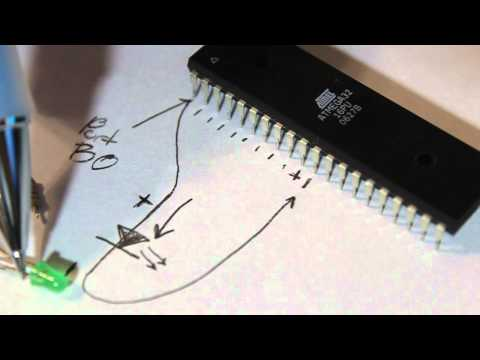 Microcontrollers - AVR Atmega32 - Testing the programmer and building the first circuit