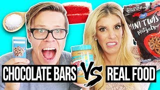 Weird Chocolate Bars Vs. Real Food Challenge! (Day 317)