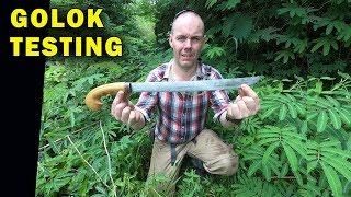 Testing an Indonesian Golok Machete