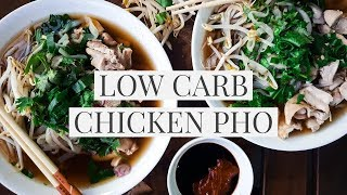 LOW CARB PHO | keto vietnamese chicken noodle soup