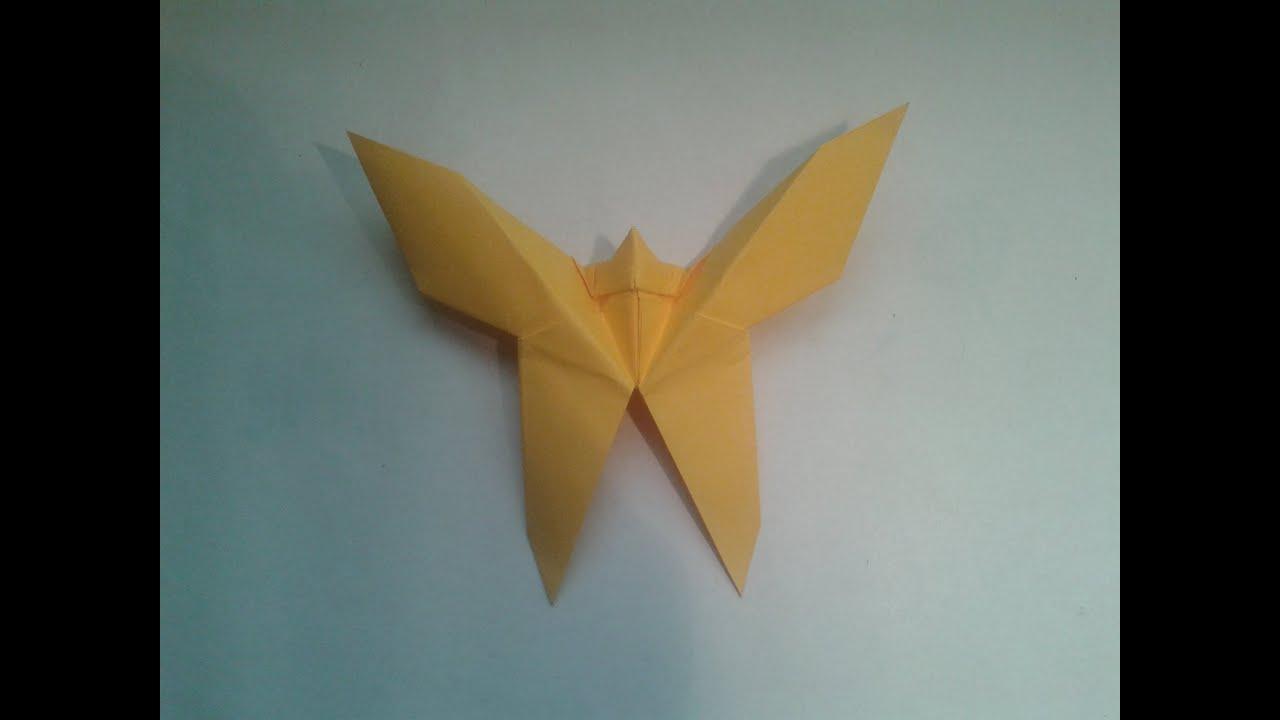 Como hacer una mariposa de origami facil youtube - Como hacer mariposas de papel ...