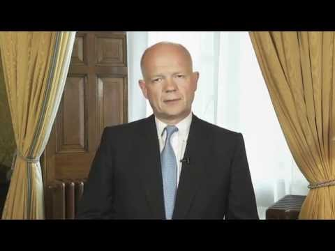 UK Foreign Secretary, William Hague's message to the Ukrainian people