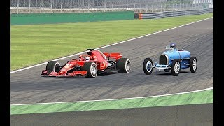 Ferrari F1 2018 vs 1931 Bugatti Type 51 - Monza