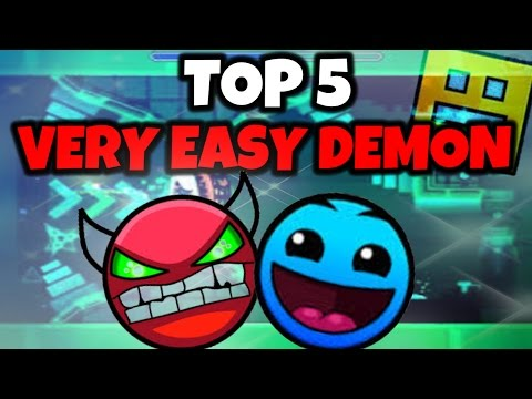 ¡TOP 5 NIVELES DEMONIACOS MAS FACILES DE GEOMETRY DASH! | Very Easy Demons | MiKhaXx