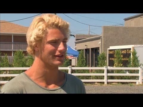 Teen  nearly struck by lightning as he films