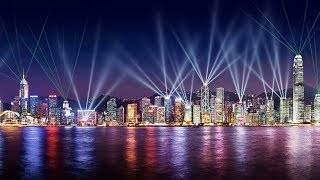 HONG KONG: A SYMPHONY OF LIGHTS - FROM THE ICC (time lapse)