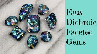 UV Resin Tutorial Creating Faux Dichroic Glass Gemstones PLUS Giveaway