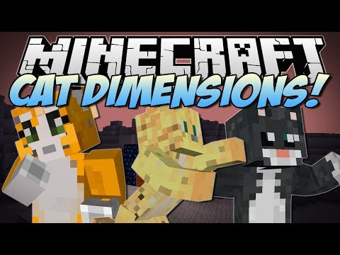 Minecraft CAT DIMENSIONS Bad Cats Evil Cats Epic Cat Weapons More Mod Showcase