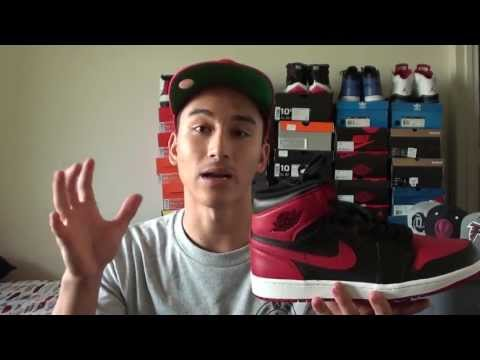 "Jordan I (1) Retro Black/Red ""Bred"" 2013 On Feet Review"