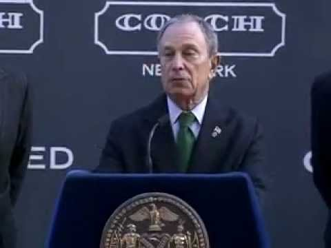Mayor Bloomberg Announces Deal for Coach Inc. to Anchor Hudson Yards.