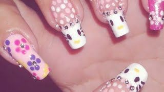 DiY: Hello kitty with Rhinestone Nail Art Design | LinLinNails Üü