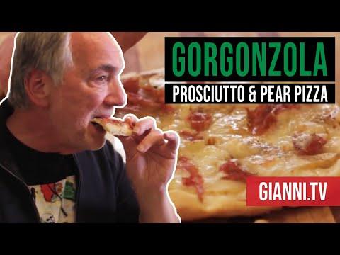 Gorgonzola, Prosciutto and Pear Pizza - Gianni's North Beach