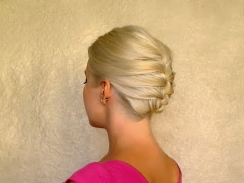 French braid updo hairstyles for short medium long shoulder length hair Work office job interview