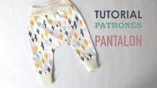 DIY Patrones pantalón legins bebe (modelo 2)
