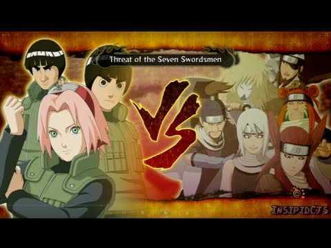 Naruto Ultimate Ninja Storm 3 Sakura Lee and Guy Vs The Seven Swordsmen S-Rank Hero (English)