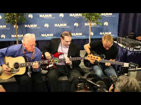 NAMM 2011 - Phil Collen, Mike Huckabee and Dick Boak