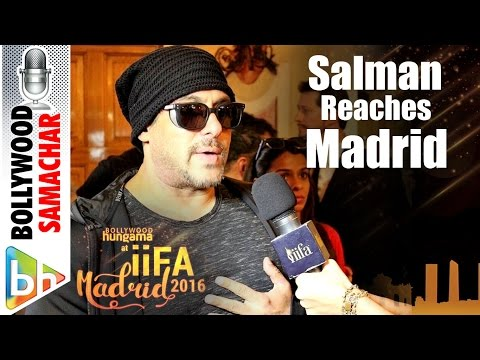 Salman Khan Reaches Madrid For 'IIFA 2016'
