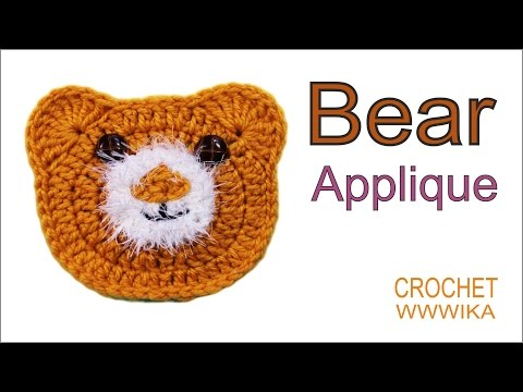 How to crochet bear applique How to crochet a circle for beginners(DC) free pattern tutorial