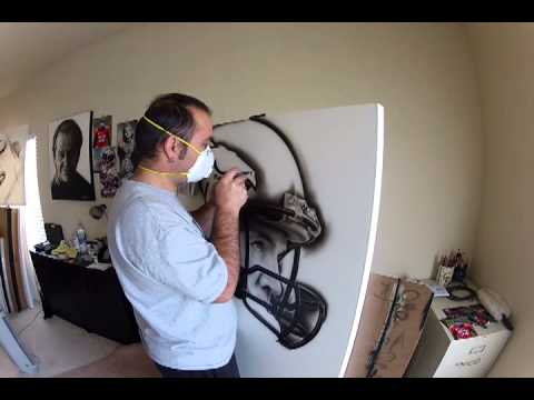 Peyton Manning Painting Time Lapsed on #GoPro HERO3