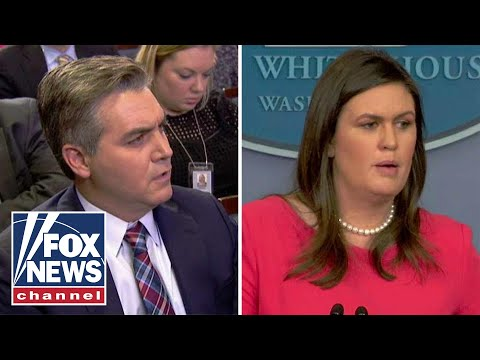 Sanders calls on Jim Acosta at White House press briefing