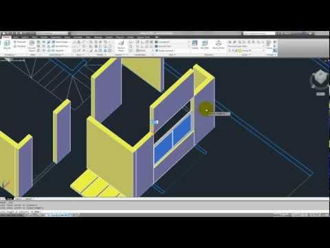 Tutorial Autocad 3D 2012 español: modelar una casa parte 2