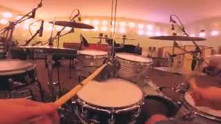 First Person Drumming.Soundcheck at Red Wave Studio (Saint-Petersburg) 100% GoPro.