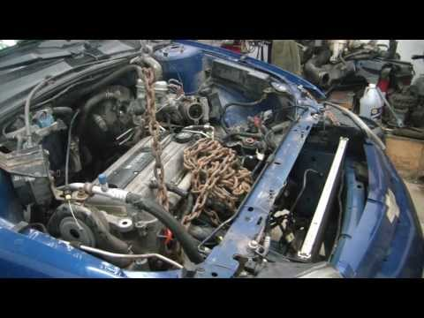 04 Chevy cavalier engine swap 3 (engine removal)