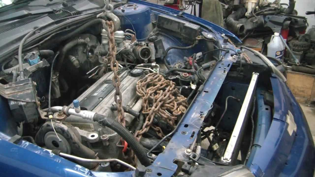 04 Chevy Cavalier Engine Swap 3 Engine Removal Youtube
