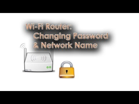 Wi-Fi Router: Changing Network Name (SSID) & Password (WPA)