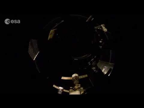 Nighttime in the Space Station Cupola | Fisheye Time-lapse | Video