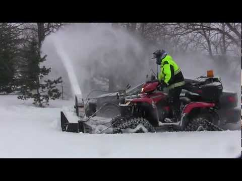 ATV Snowblower On Tracks